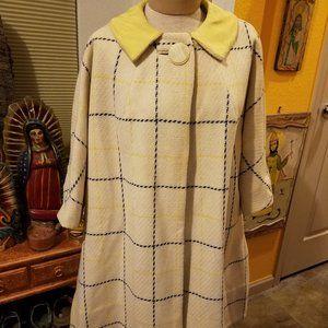 Vintage wool spring swing coat